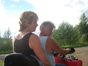Deb and Rob on 4 wheeler
