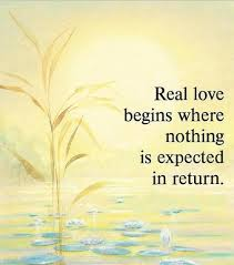 Unconditional love-nothing expected in return