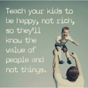 Happy not rich