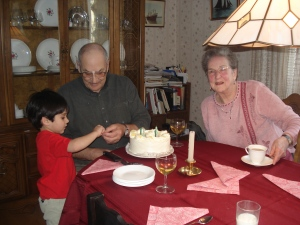Mom and dad in 2007 for his birthday.