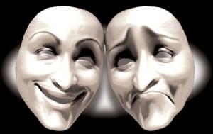 Happy-sad masks